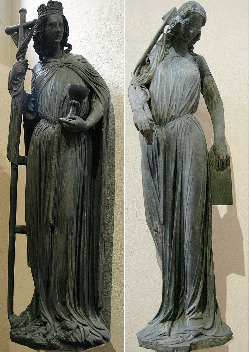 Ecclesia and Synagoga ('Church and Synagogue'), Strasbourg Cathedral