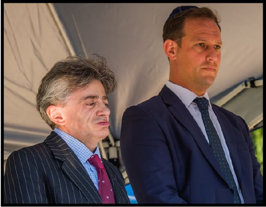 Lord Kevin Shinkwin (left, with Gauteng Council Chairman Marc Pozniak) was the keynote speaker at the 2019 Johannesburg ceremony