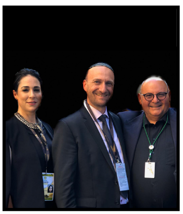 State of the Nation address, 13 February: 2020. Chaya Singer and Shaun Zagnoev with Michael Bagraim, MP, outside Parliament.