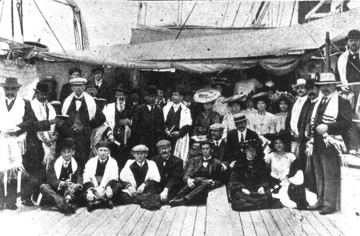 East European Jews en route to South Africa, Rosh Hashanah 1903