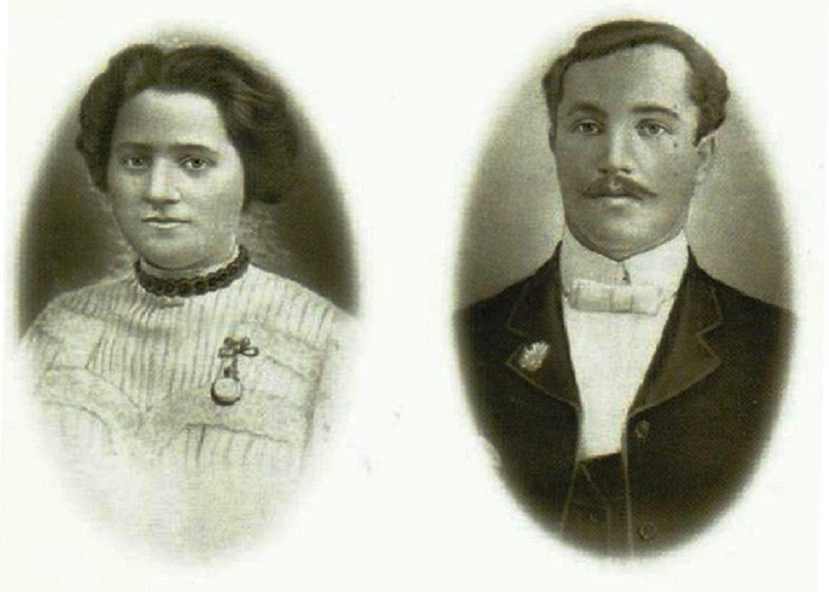 Reuben and Sophia Newstead c. 1905 (Portraits courtesy Bernice Kling)
