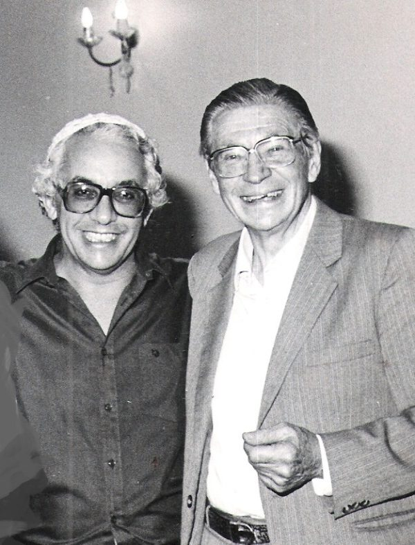 Rabbi Ben Isaacson (left) with famed anti-apartheid cleric Reverend Beyers Naude