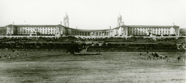 Early view of the Union Buildings, Pretoria