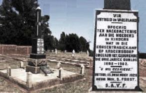 Boer graves and monument, Krugersdorp concentration camp