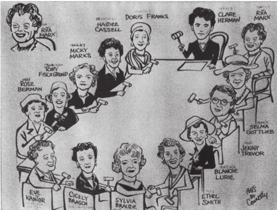 Portrait of United Sisterhood chairs, circa. 1957 by Bob Connolly (Rand Daily Mail)
